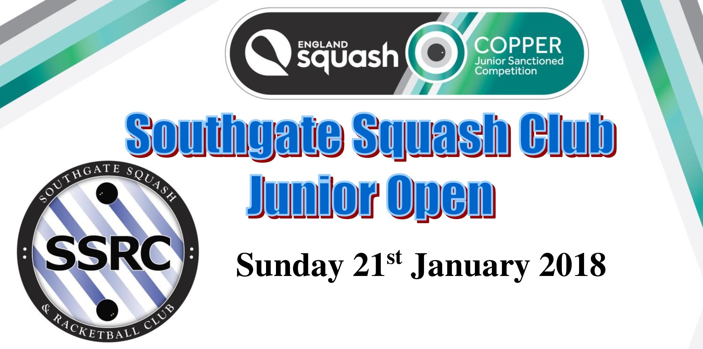 Southgate Squash Club Hosts one of the first England Squash Cooper Tournaments of 2018