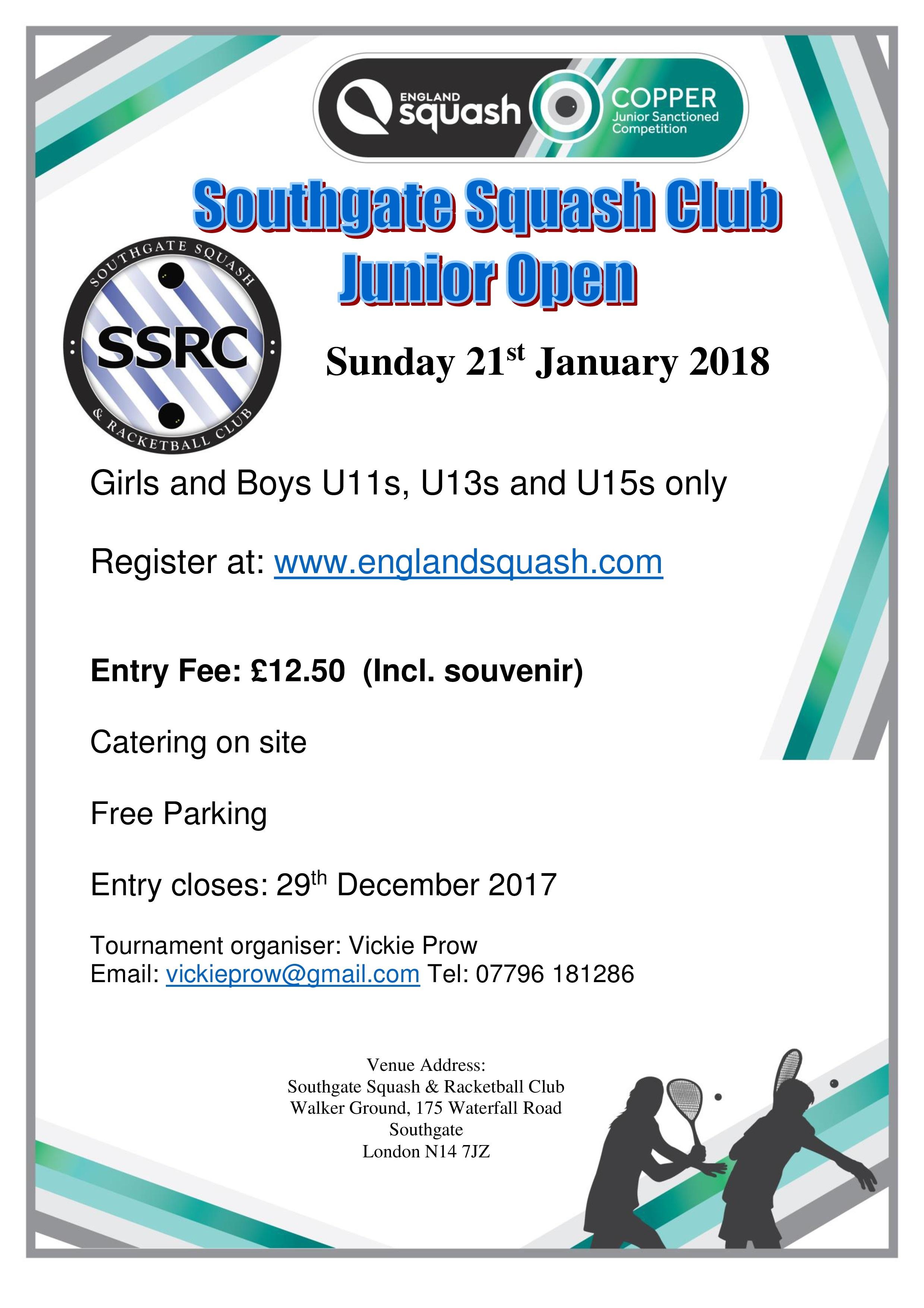 Southgate Junior Open 2018
