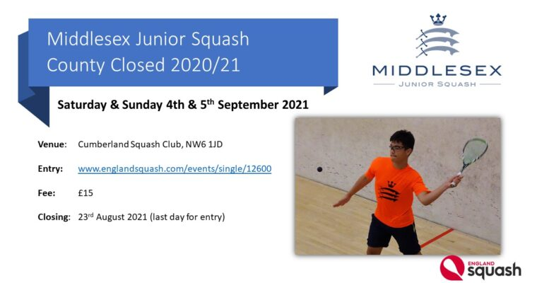 Middlesex Junior Squash – County Closed 2020/21