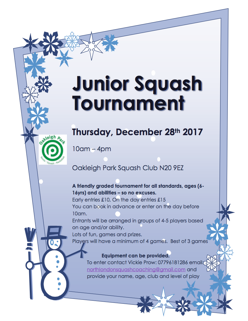 Oakleigh Park Tournament Dec 2017(b)