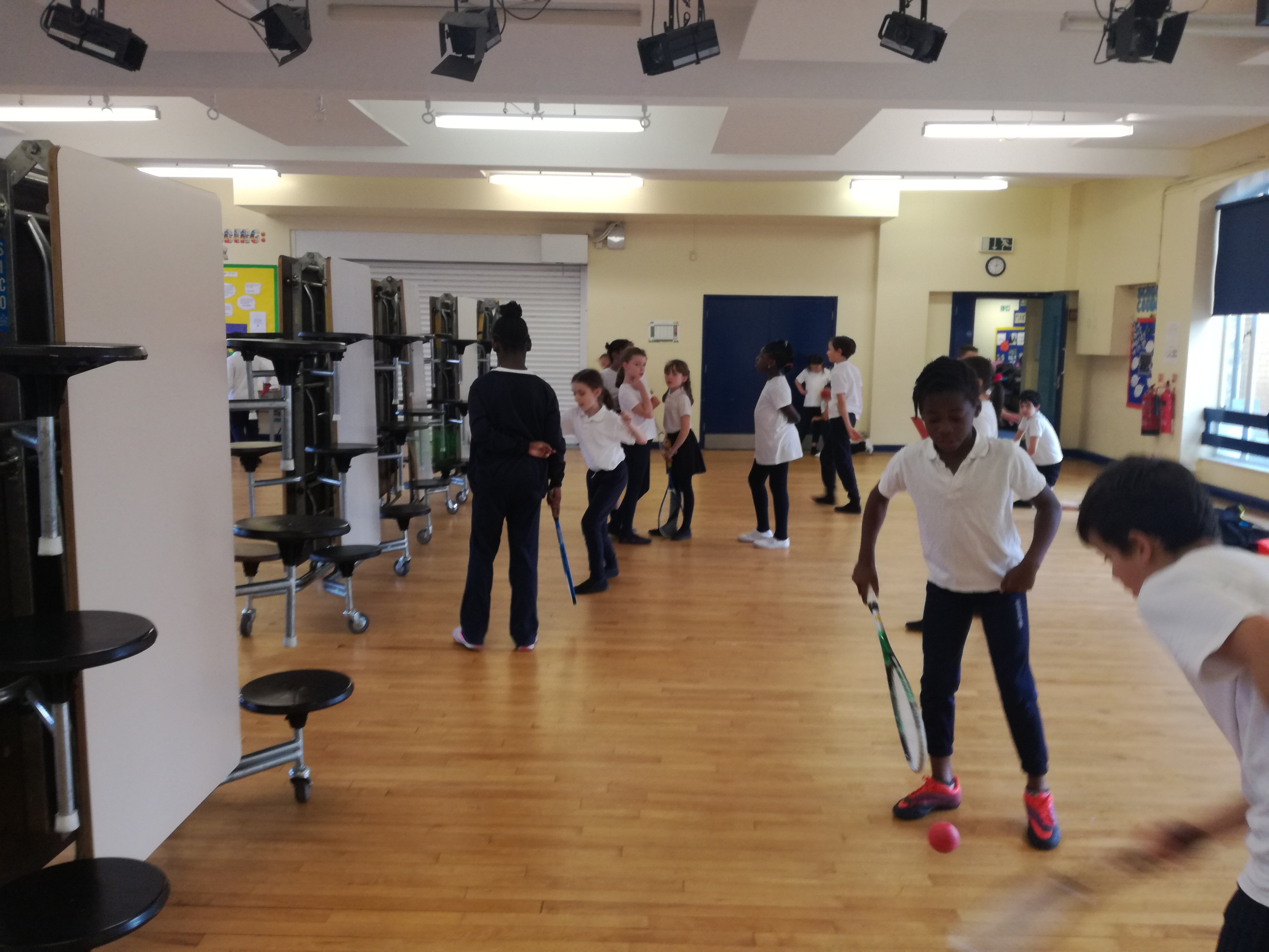 'Our Lady of Muswell Primary School' Experience Squash Thanks to the Middlesex DCA Project