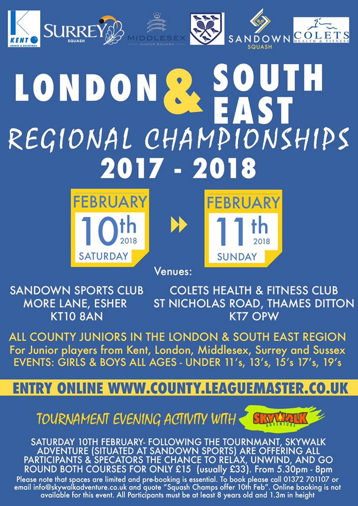 London & South East Regional Championship 2017/18