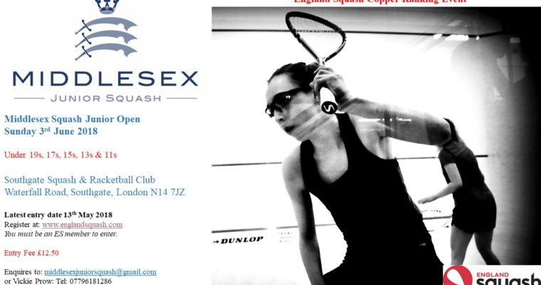 Middlesex Junior Open – 3rd June at Southgate