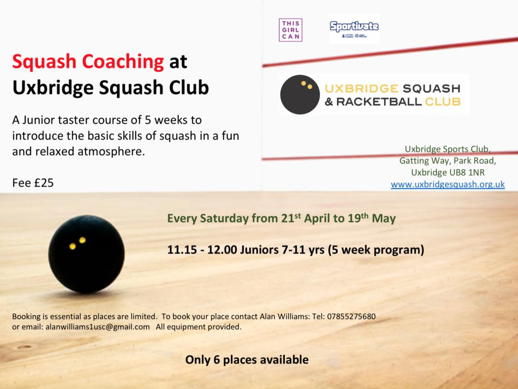 Squash Coaching Uxbridge Squash Club