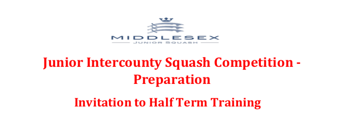 Junior Intercounty  Squash Preparation