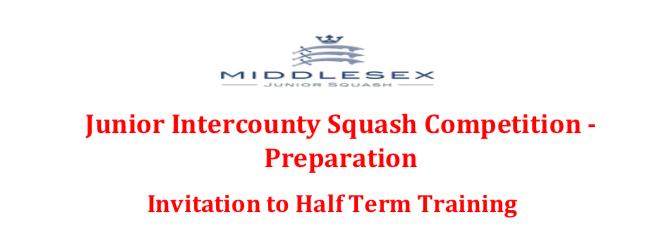 Junior Intercounty  Squash Preparation