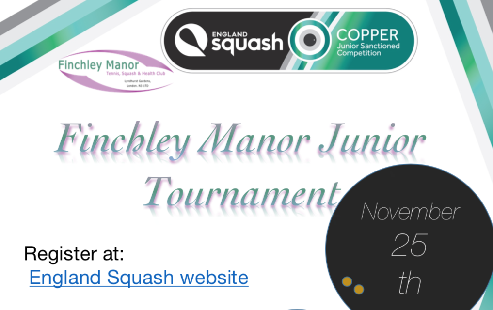 Finchley Manor Tournament – 25th November