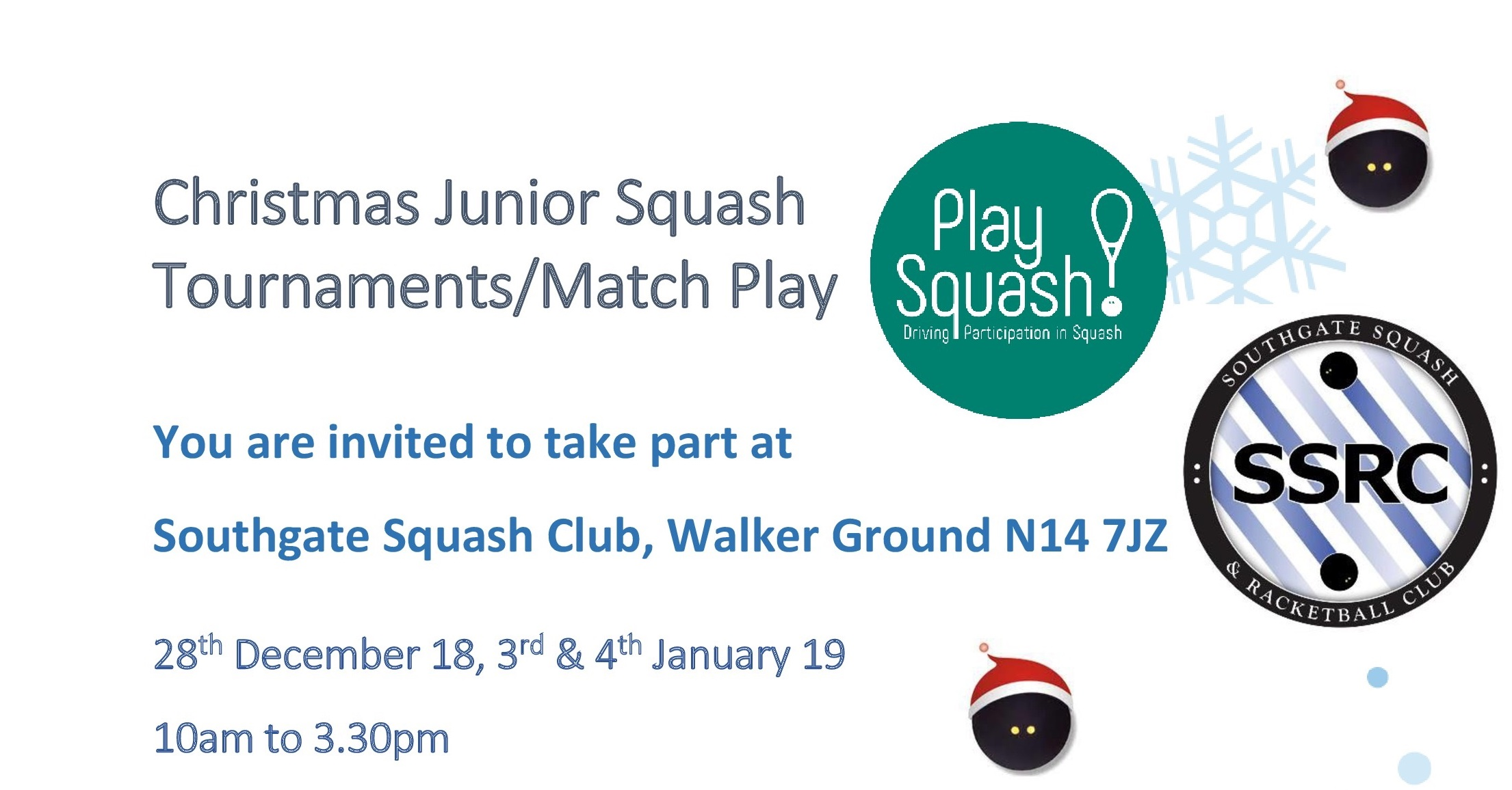 Christmas Junior Squash at Southgate