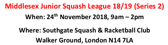 Middlesex Junior Squash League 18/19 (Series 2)