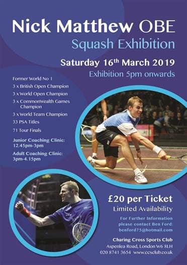 Nick Matthews Exhibition Match