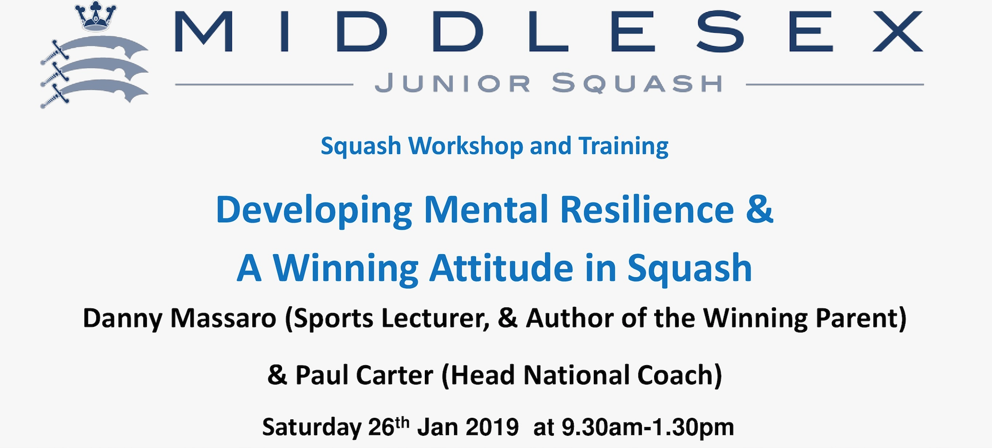 Workshop: Developing Mental Resilience & A Winning Attitude in Squash