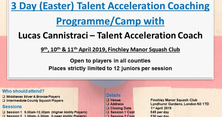 3 Day (Easter) Talent Acceleration Coaching