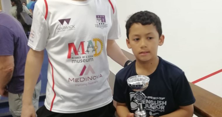 Rio Swasey wins his first U11s Silver Event