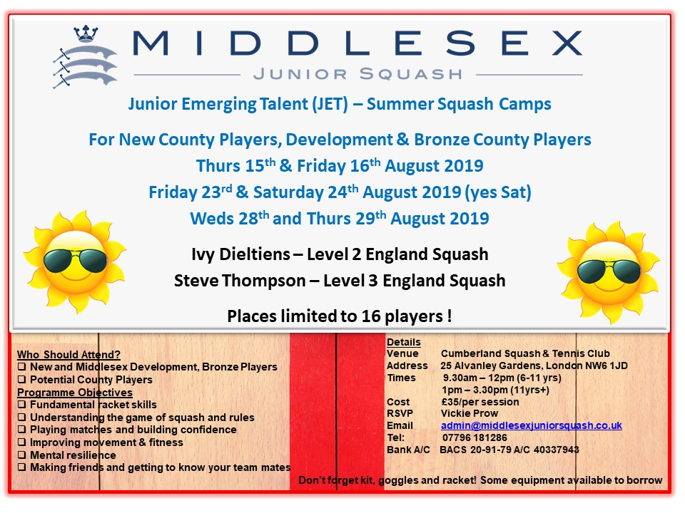 Junior Emerging Talent – Summer Camps